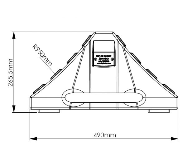 Wheel Chock for double axle plan