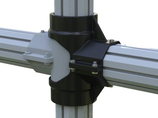 Cross Join Bracket - PVC Post and Rail