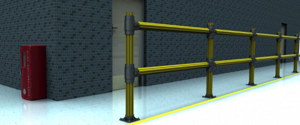 PVC fence for Factory Yellow