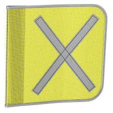 Safety Flags Yellow Square